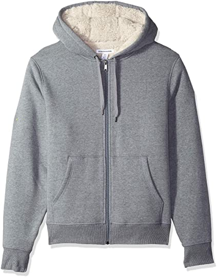 Amazoncom Amazon Essentials Mens Sherpa Lined Full Zip Hooded