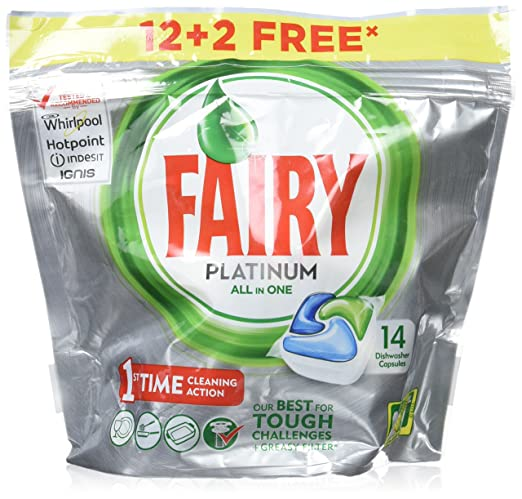 Fairy Platinum Original - Cápsulas de Lavavajillas - Pack de ...