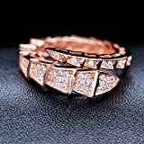 Uloveido Snake Gold Color Resizable Stackable Rings for Men and Women, Fashion Jewelry Party Ring Gifts Y320