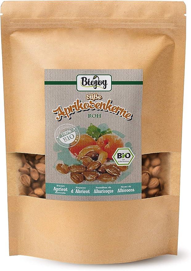 Biojoy Semillas de Albaricoque dulces BIO, Semillas enteras (1 kg): Amazon.es: Alimentación y bebidas