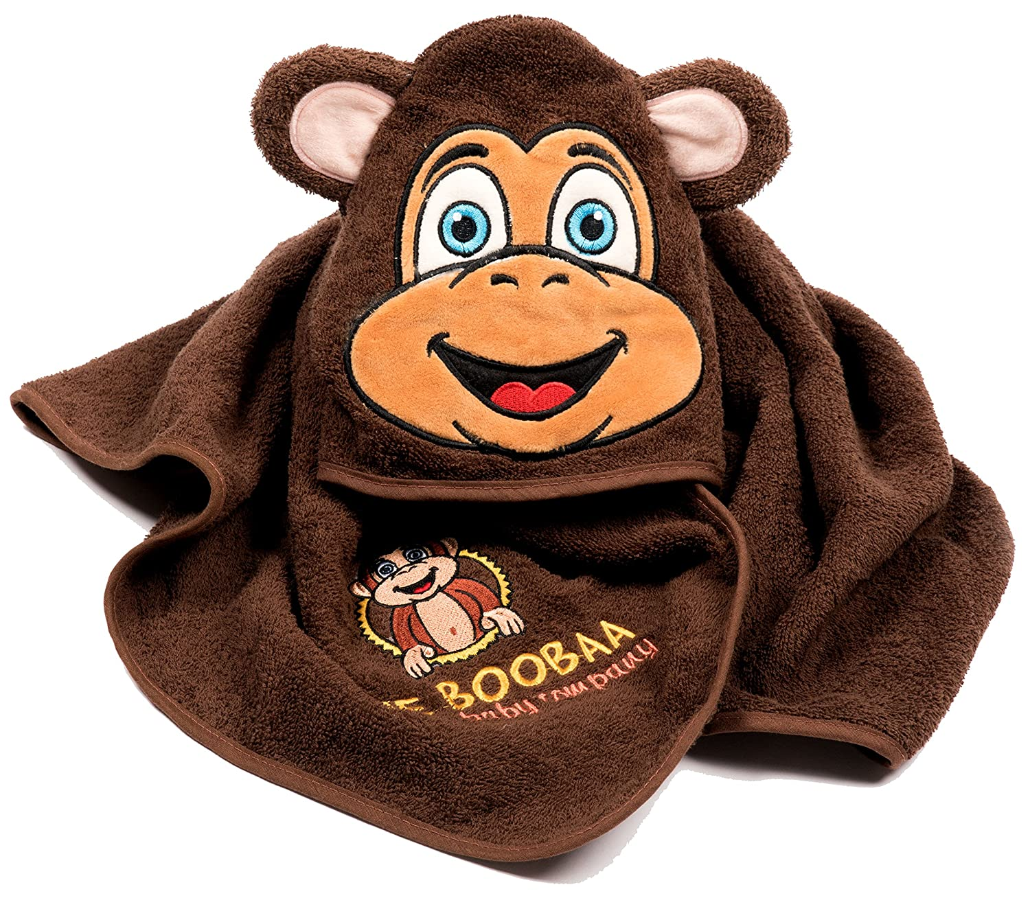 BooBaa Baby Hooded Monkey Towel The BooBaa Baby Company