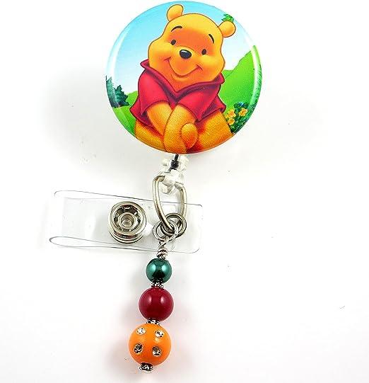 POOH BEAR ID CARD BADGE//PASS HOLDER LANYARD Tigger Piglet