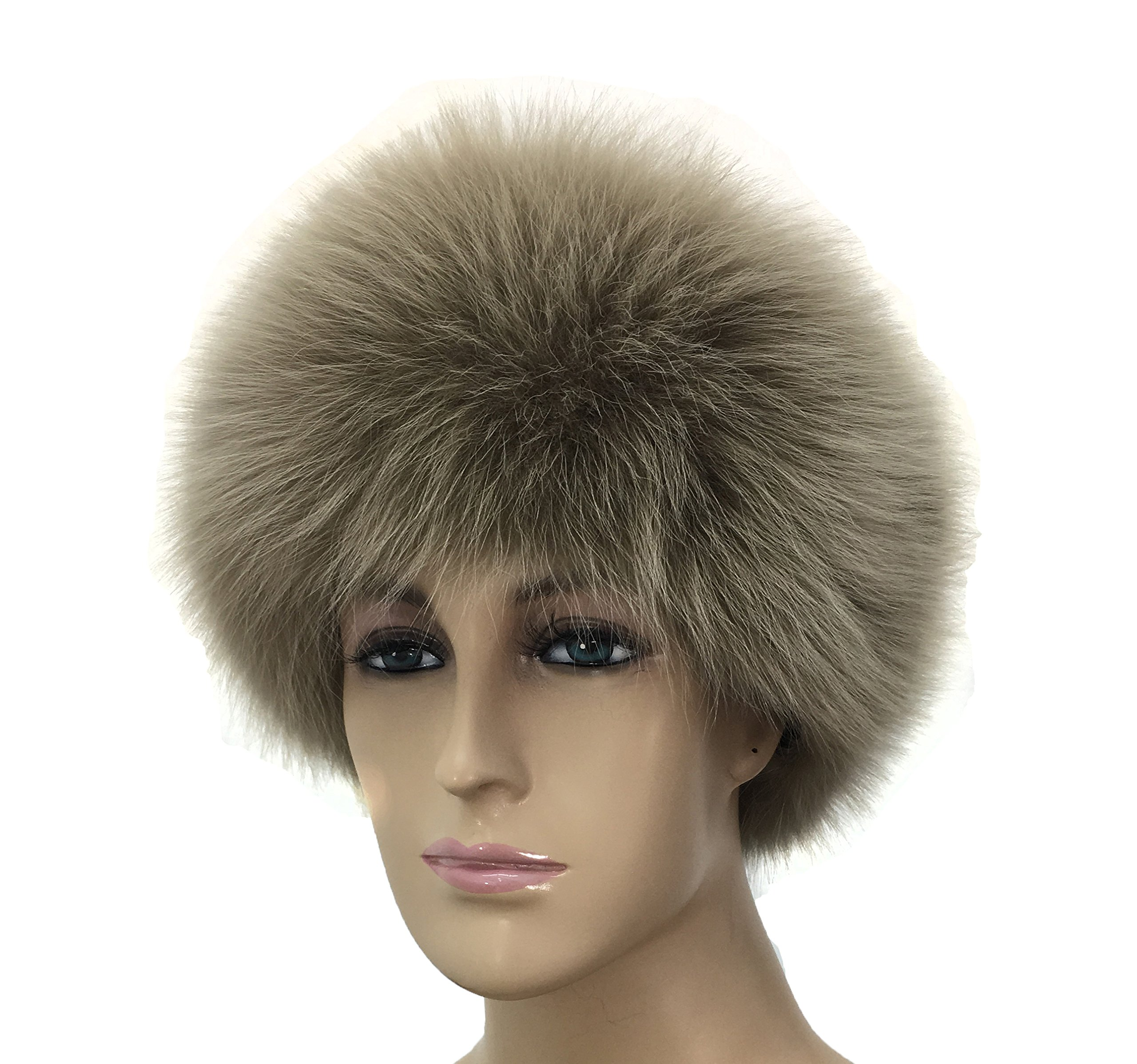 HIMA 100% Real Fox Fur Headband (Beige) by Hima (Image #1)