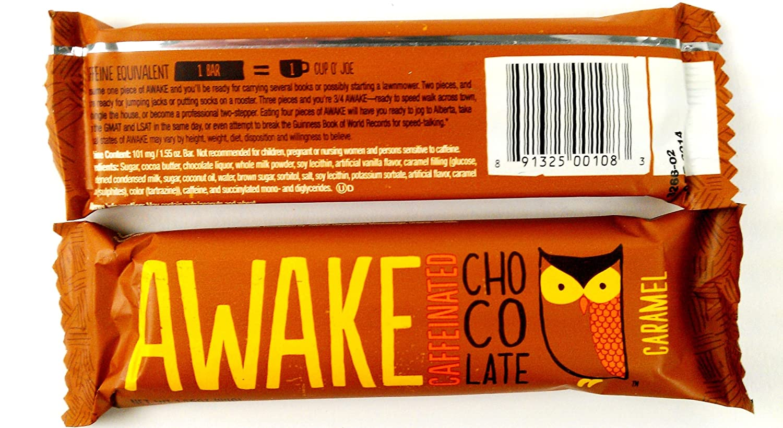 Amazon.com : AWAKE Caffeinated Chocolate, Milk Chocolate and ...