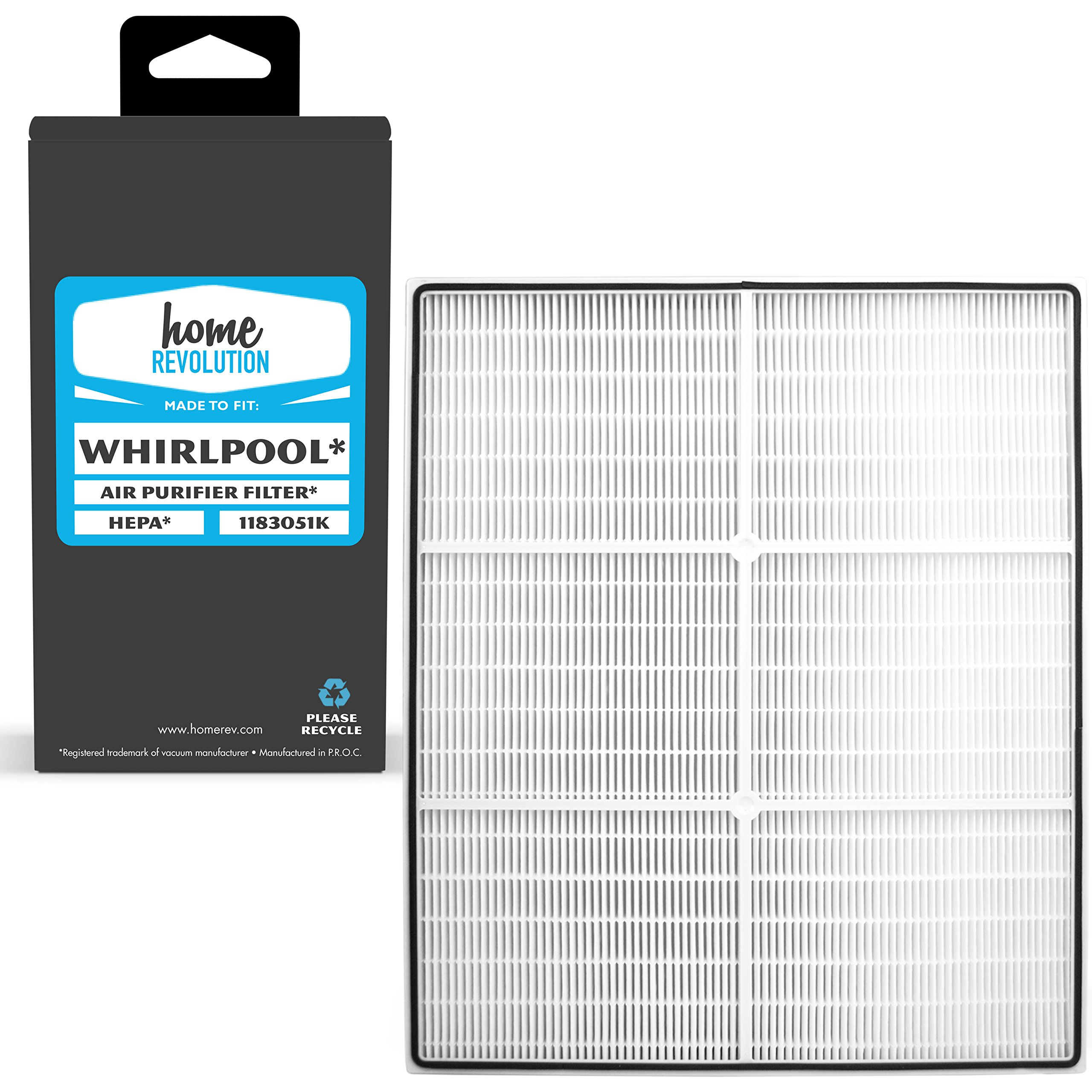 Home Revolution Replacement HEPA Filter, Fits Whirlpool AP250 & AP150 Air Purifiers and Part 1183051K