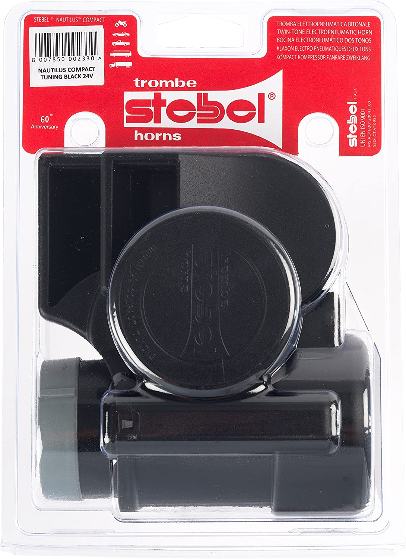 Stebel Nautilus Compact Tuning Black 24v Signalhorn Hupe Auto