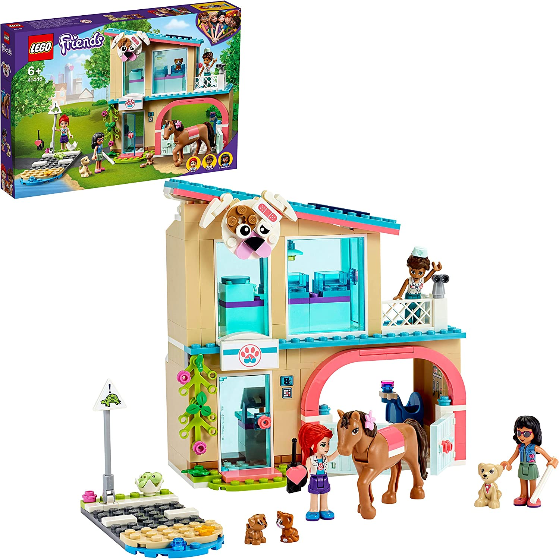 LEGO 41446 Friends Clínica Veterinaria de Heartlake City Juguete de construcción con Mini Muñecas, Caballo y Perro Guía