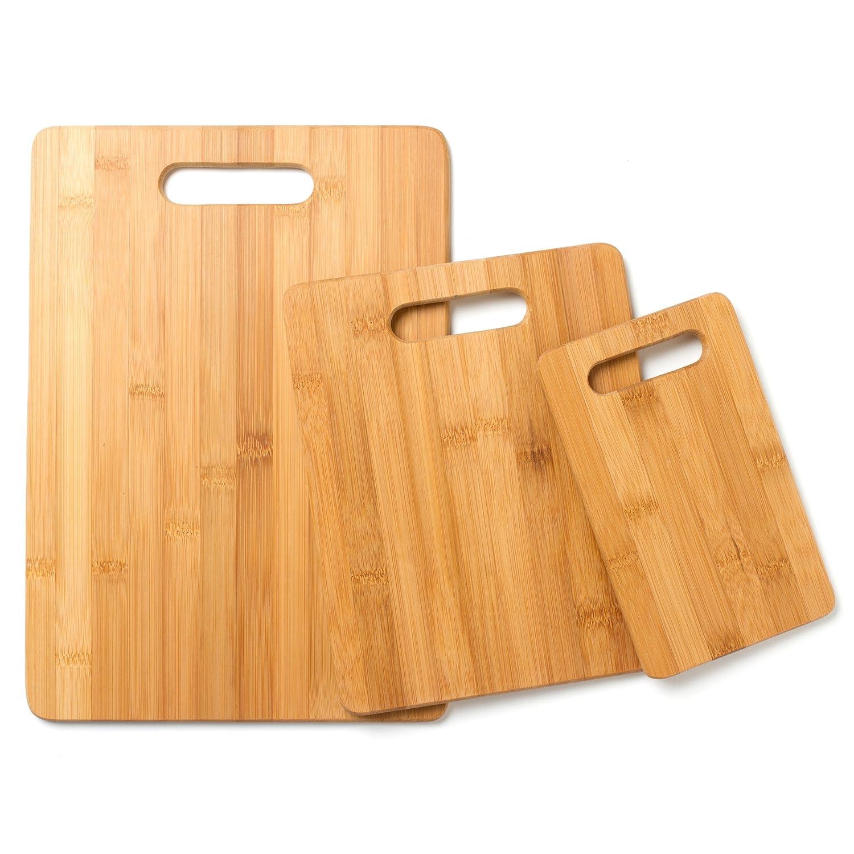 Amazoncom Cooks Corner 3 Piece Bamboo Cutting Board Set Kitchen