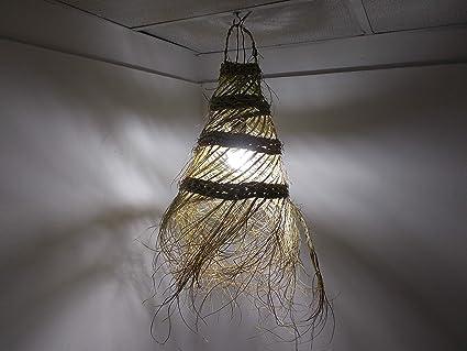 Lampadario marocchino in paglia intrecciata lampada applique