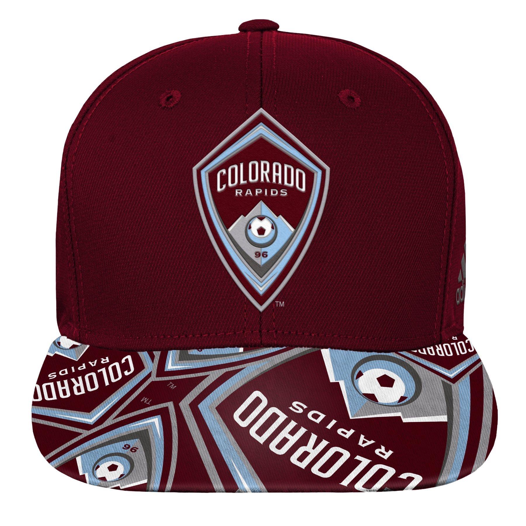 Outerstuff MLS Colorado Rapids R S8FDJ Youth Boys Flatbrim Snapback, One Size (8), Burgundy