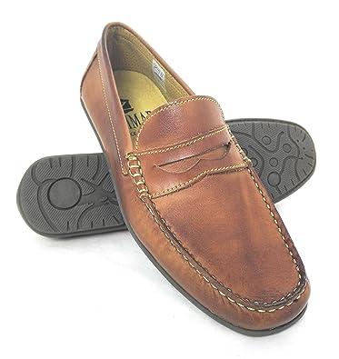 Zerimar Mocasines de Caballero Fabricados EN Piel Diseño marcando Moda Forro Interior Piel: Amazon.es: Zapatos y complementos