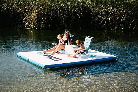 Floating Dock Inflatable Island Swim Platform water pad 2.5mx1.5m swim deck