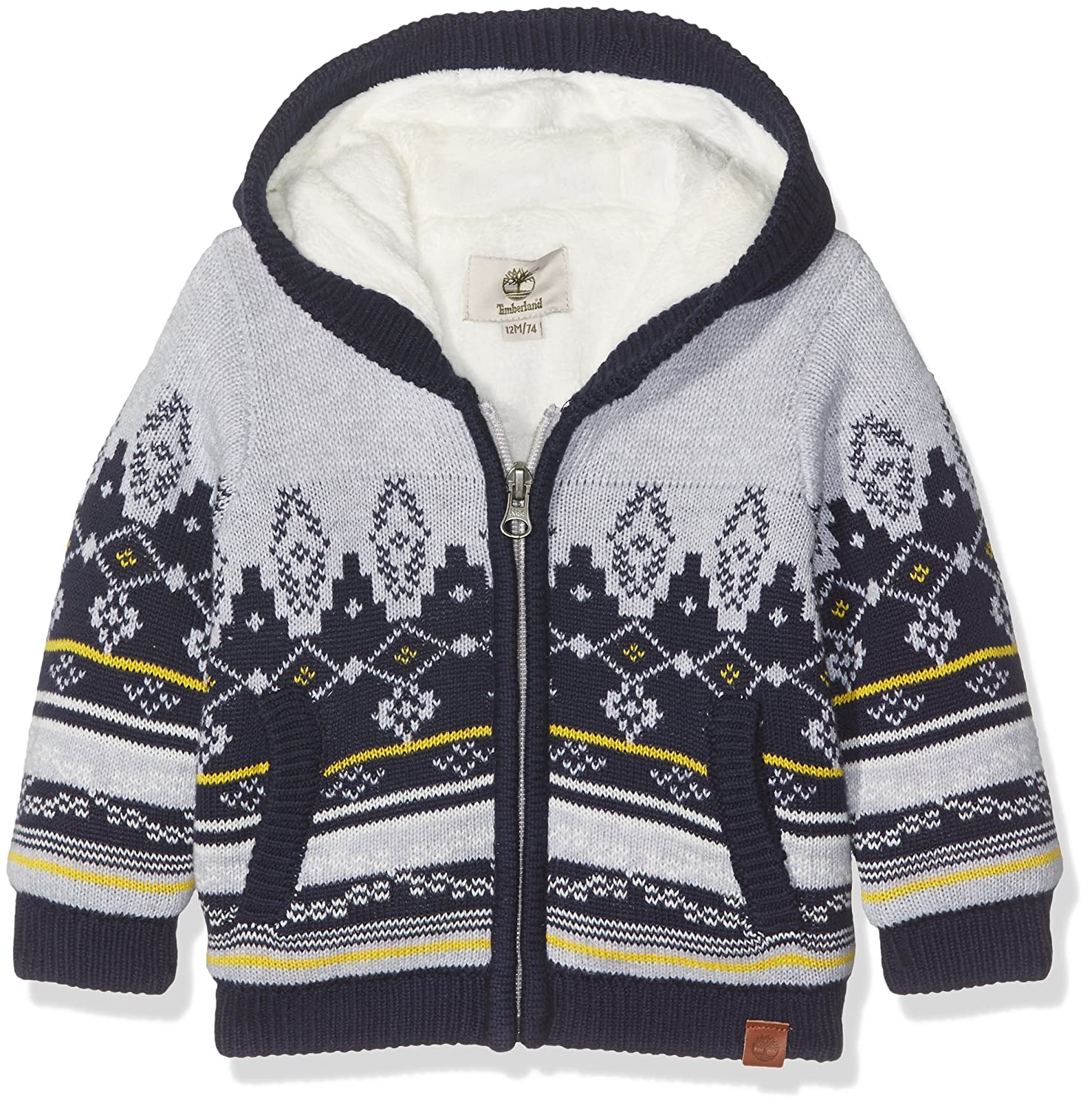 07278446a9 Timberland Baby Boys' Cardigan Tricot - Grey (GRIS CHINE A32) - 67 cm/6  Months: Amazon.co.uk: Clothing