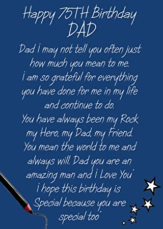 Dad 75th birthday card amazon office products dad 75th birthday card bookmarktalkfo Choice Image