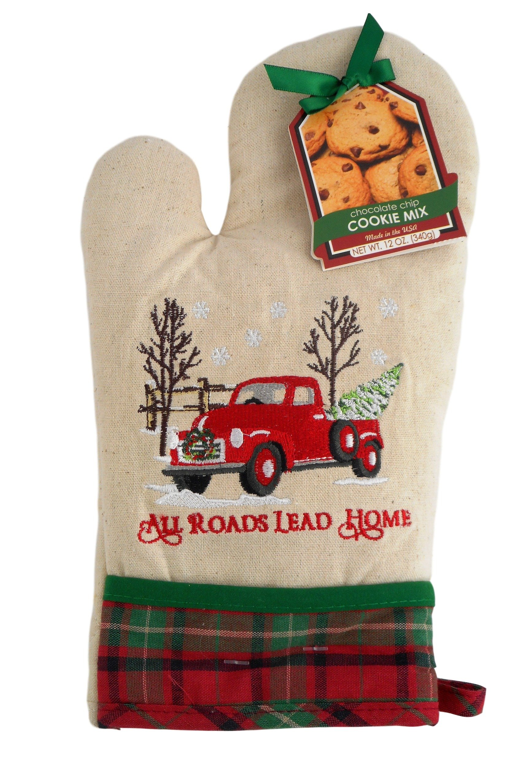 Holiday Baking Pot All Roads Lead Home Oven Mitt Cookie Mix Set
