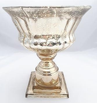 Bauernsilber Weihnachtsdeko.Glas Pokal Schale Bauernsilber Shabby Garten Home Wohndeko