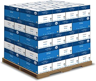 product image for Hammermill A4 Paper, 20 lb Copy Paper (210mm x 297mm) - 1 Pallet, 40 Cases (200,000 Sheets) - 92 Bright, Made in the USA