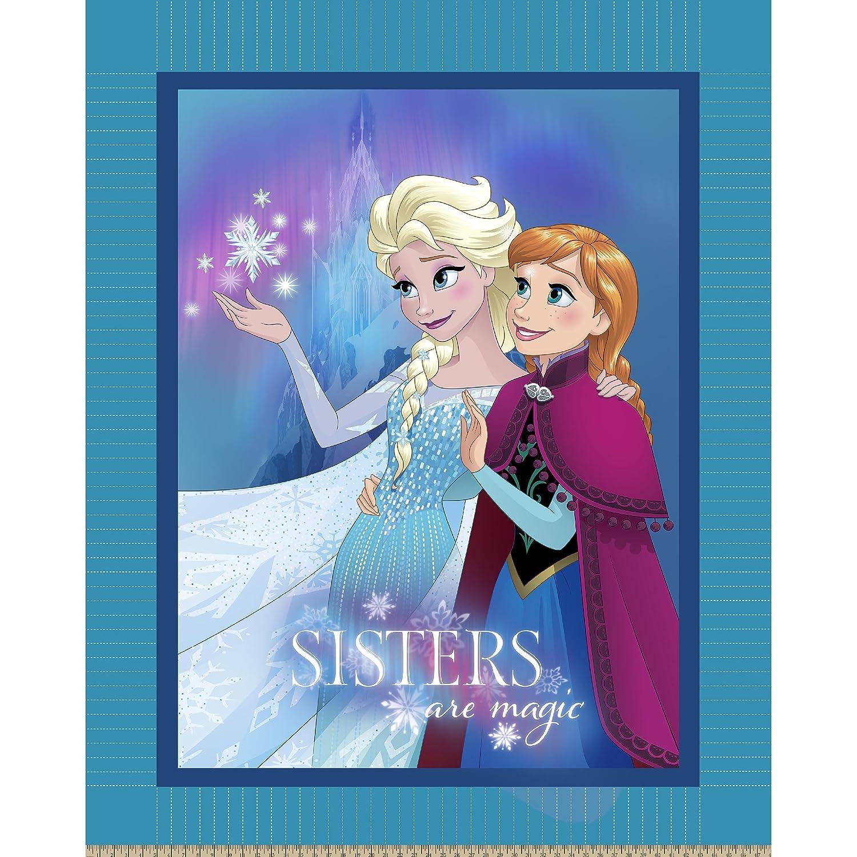 Disney 60848-160C831 Frozen Sisters are Magic No Sew Fleece Throw Kit, Blue