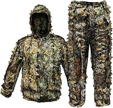 Amazon.com: RUNPO - Traje de camuflaje con capucha para ...