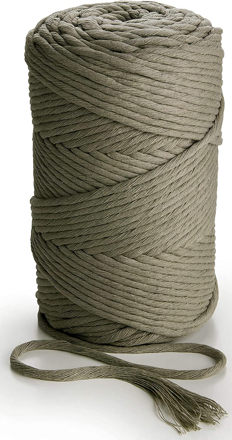 6mm x 120m Twisted Cotton Cord  Macrame  Cord  Cotton Rope Natural Ecru or Bleached White