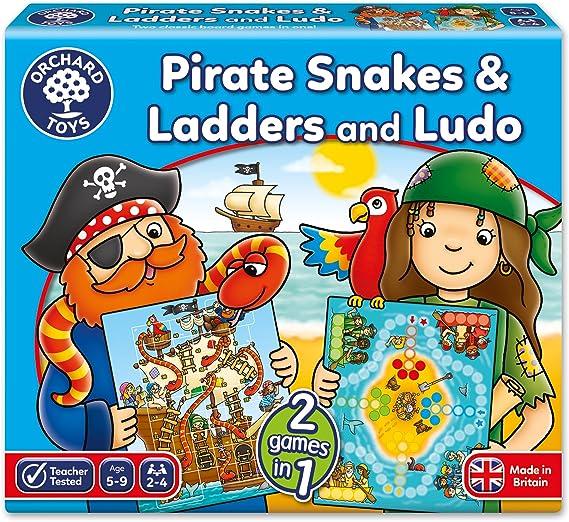 Orchard_Toys - Juego de mesa de serpientes, escaleras y Ludo (en ...