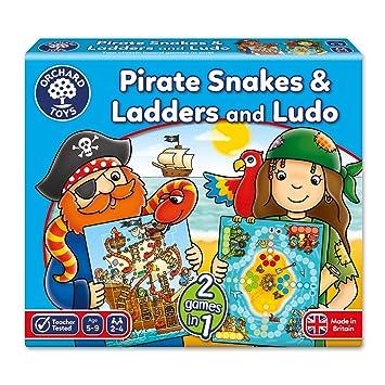 Orchard_Toys - Juego de mesa de serpientes, escaleras y Ludo (en inglés): Amazon.es: Juguetes y juegos