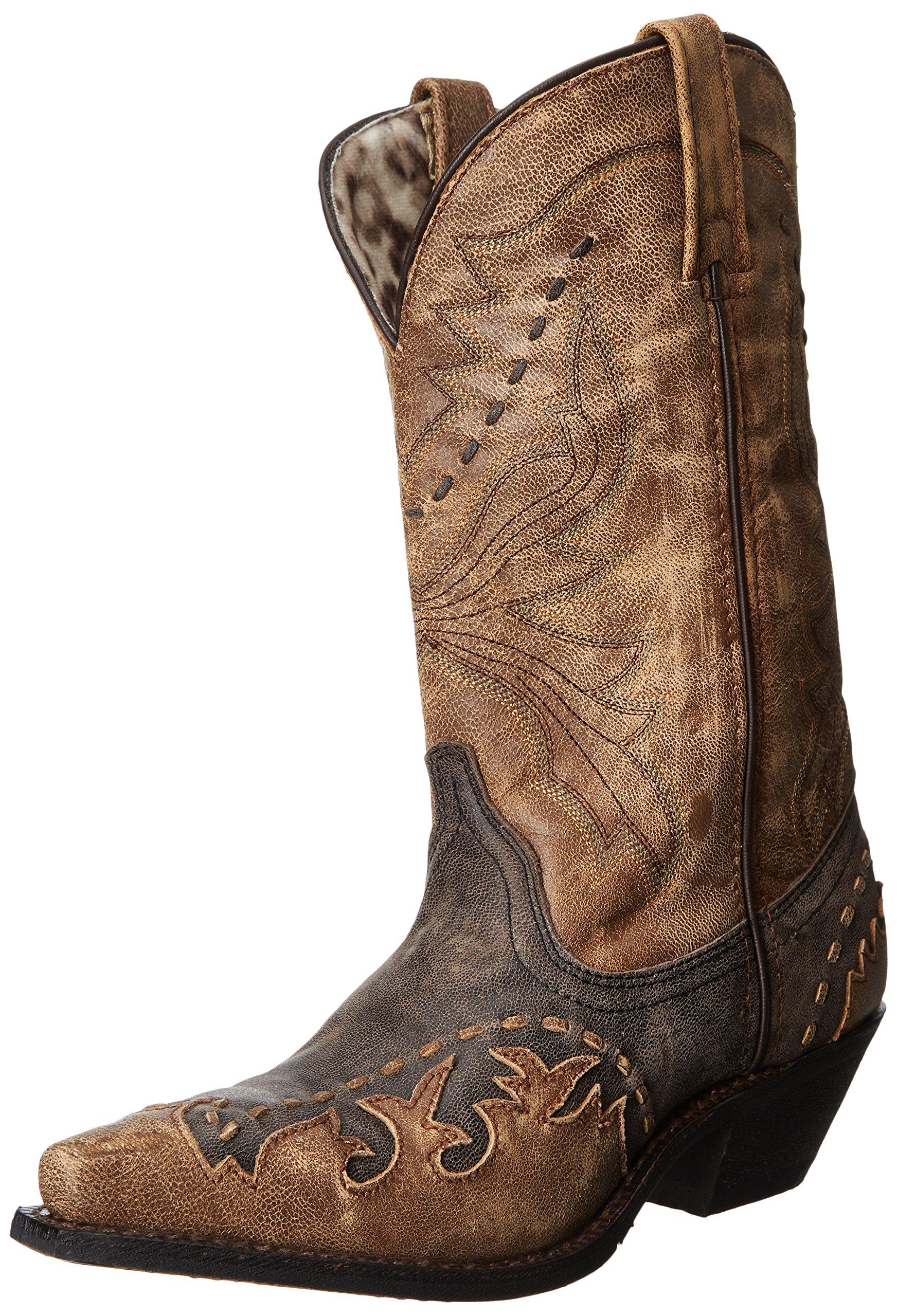 Laredo Women's Cullison Western Boot,Black/Tan,10 M US