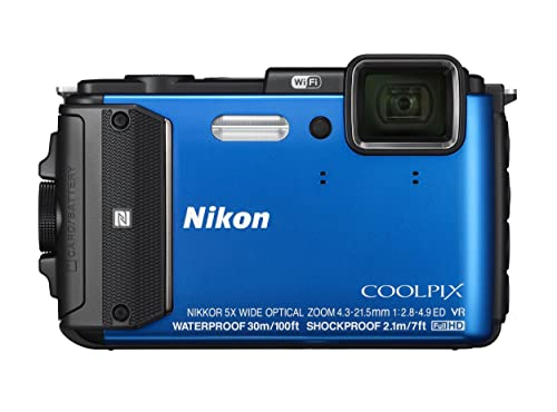 NikonデジタルカメラCOOLPIXAW130ブルー