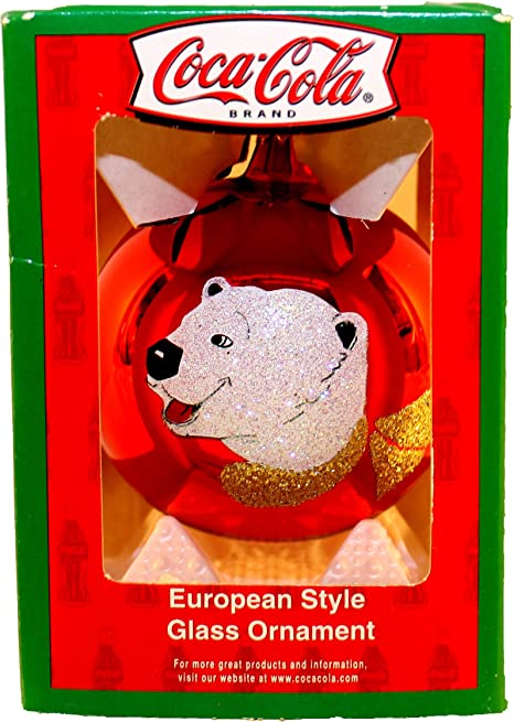 Coca-Cola Coke European Style Glass Can Ornaments Kurt Adler 12 Available