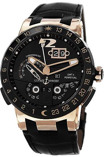 Ulysse Nardin Reloj de hombre automático 43mm analógico correa de cuero 326-03: Ulysse Nardin: Amazon.es: Relojes