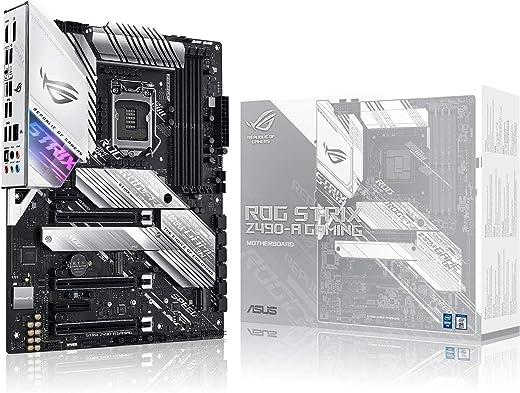 ASUS ROG Strix Z490-A Gaming Z490 LGA 1200(Intel 10th Gen) ATX White Scheme Gaming Motherboard (12+2 Power Stages, DDR4 4600, Intel 2.5 Gb Ethernet, USB 3.2 Gen 2, Aura Sync)