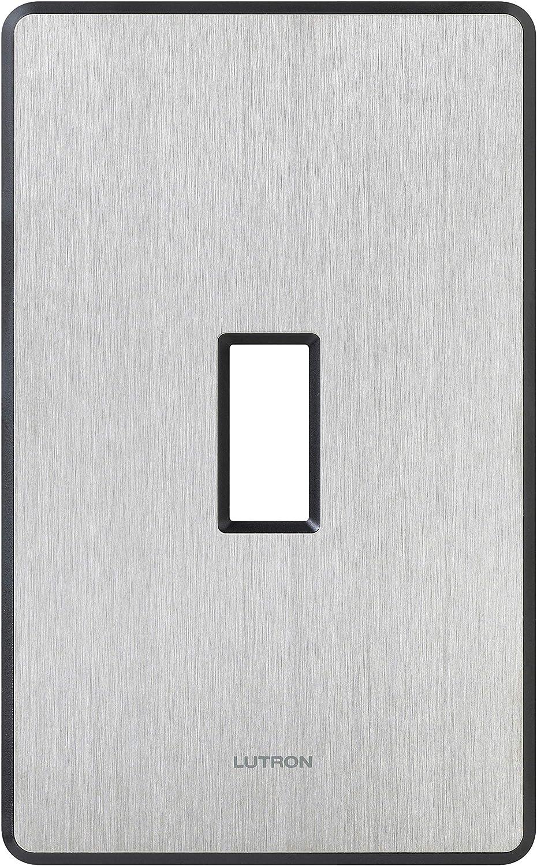 LUTRON FASSADA  DESIGNER  WHITE 2 GANG SWITCH PLATE NO VISIBLE SCREWS FW-2-WH
