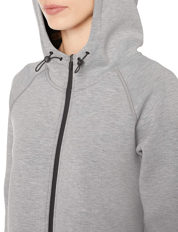 Essentials Longer Length Bonded Tech Fleece Full-zip Hooded Jacket outerwear-jackets Donna