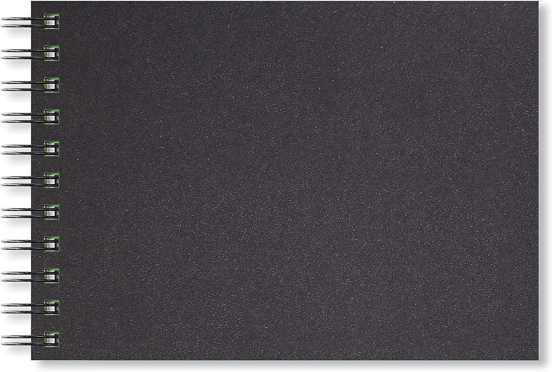 de Papel Cartucho Negro 150gsm sin /ácido 40 Hojas Artgecko Paisaje con Clase Sketchbook A5 de 80 p/áginas
