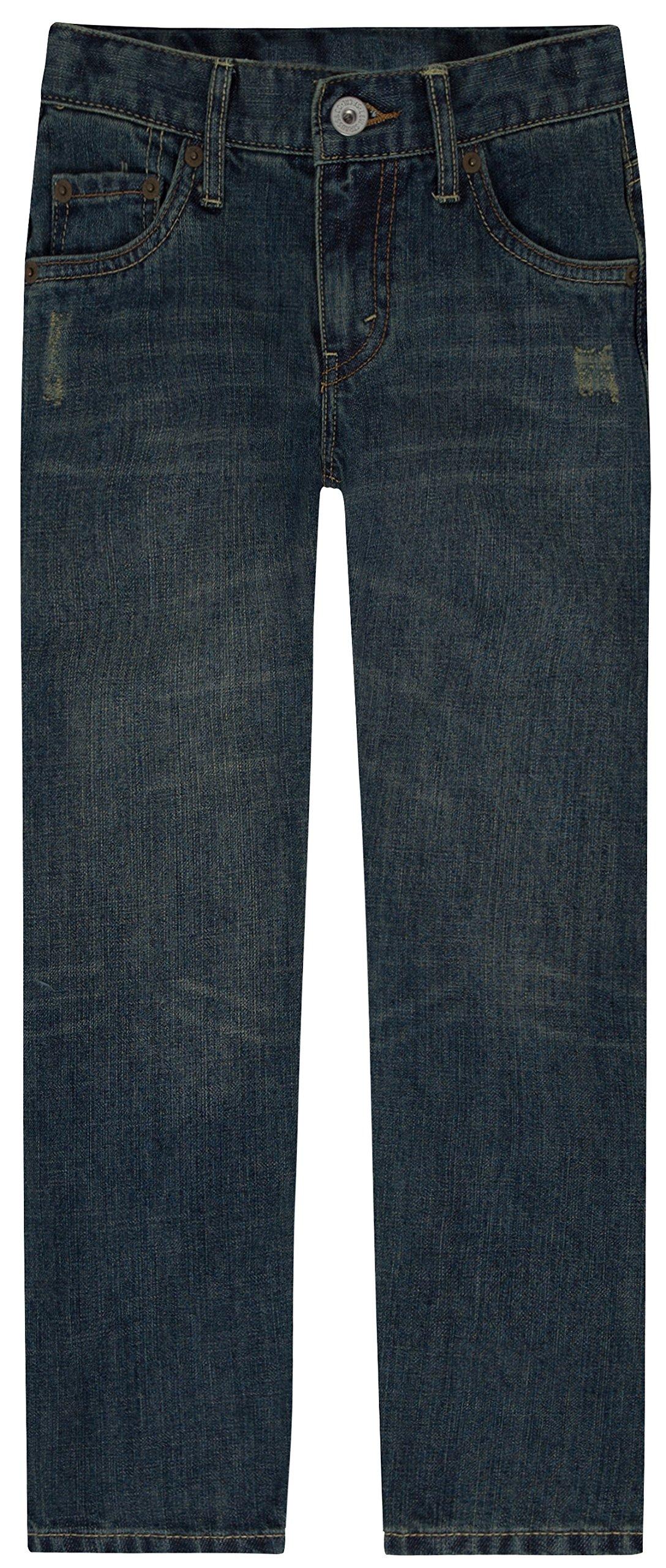 Levi's Boys' Big 514 Straight Fit Jeans, Atlas, 10 Husky by Levi's
