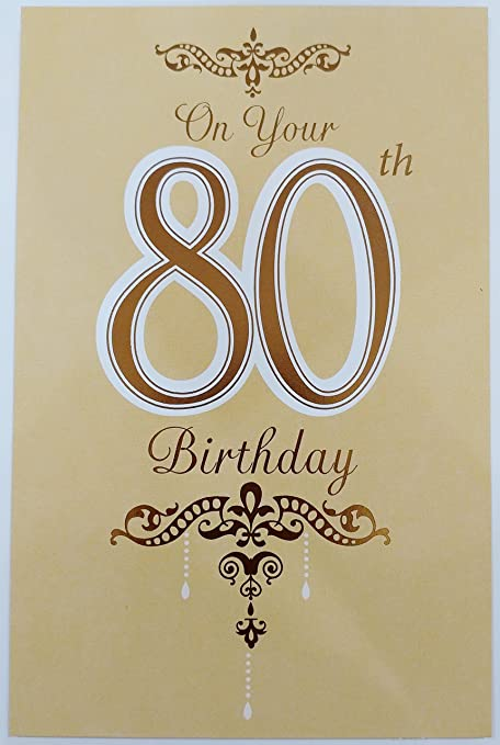On Your 80th Birthday Greeting Card QuotBe Filled With Happiness Laughter And