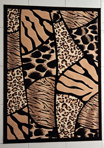 Rug Tycoon Hand Carved Rectangular Area Rug, 7 11 x 9 10 , Black