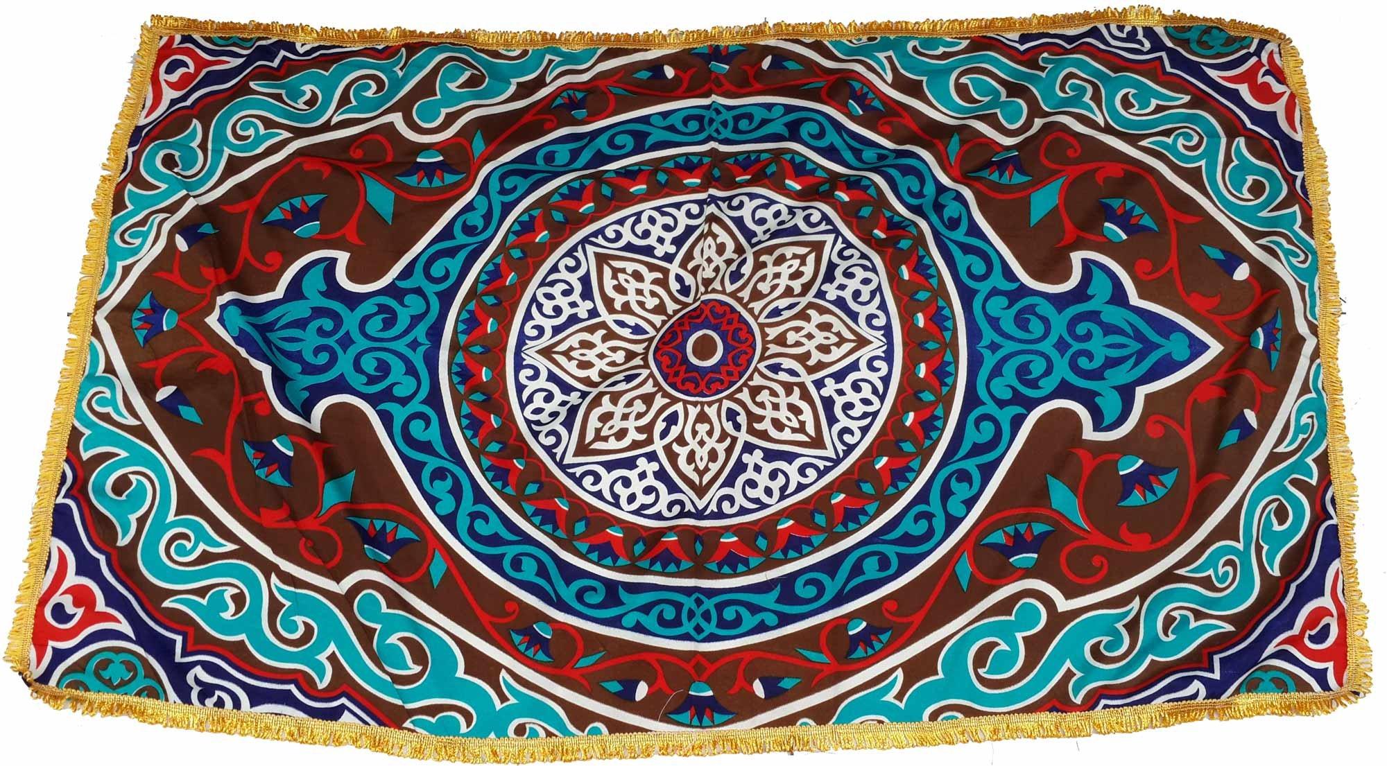 Egypt gift shops Traditional Exotic Classic Egyptian Ethnic Khayamiya Cloth Ramadan Display Showroom Fabric Table Top Wall Decor Party Sofa Chair Cover Fringes