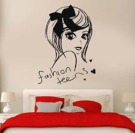 Amazon.com: Wall Stickers Vinyl Decal Fashion Teen Girl Cool ...