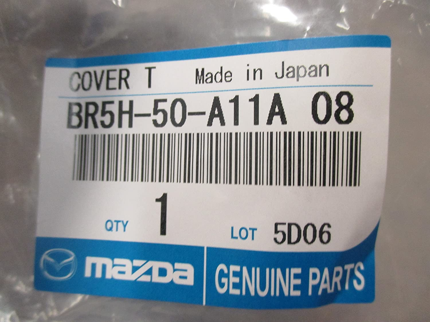 Mazda 3 2007-2009 New OEM Front Bumper Tow Hook Cover BR5H-50-A11A-08 16W