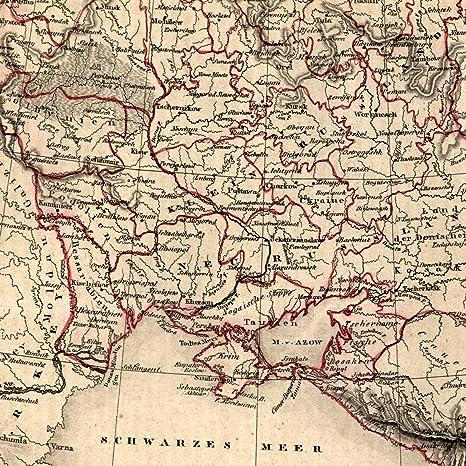 Map Of Vienna Georgia.Amazon Com Russia Ukraine South Black Sea 1854 Uncommon Old Map Sea