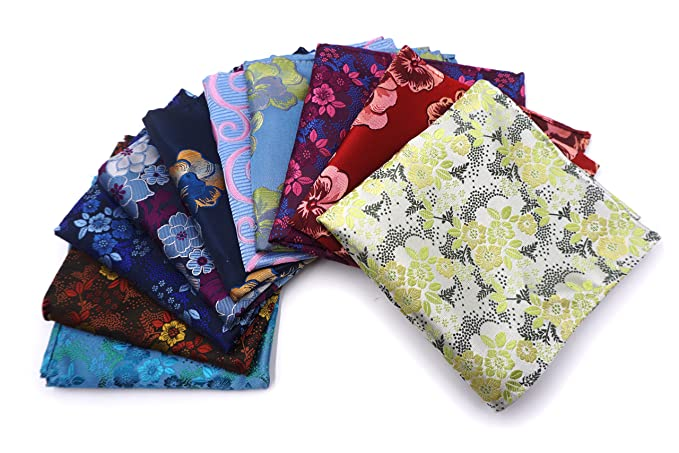 a18ec496a7787 AVANTMEN 10 PCS Men's Pocket Squares Assorted Woven Handkerchief Hanky with  Gift Box (10 x