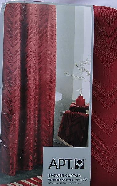 Curtains Ideas apt 9 shower curtain : Amazon.com: Apt 9 Shower Curtain Vermillion Chervron: Home & Kitchen