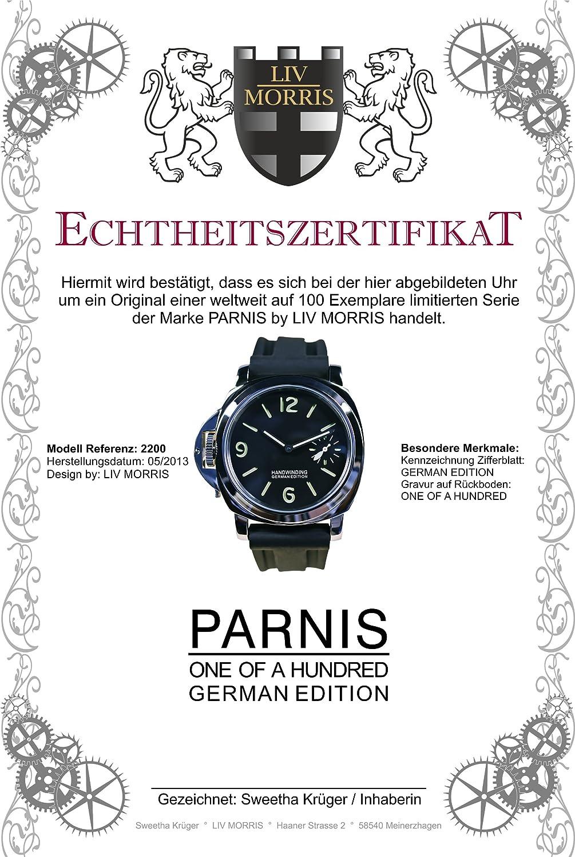 Parnis Parnis 2200 4250367313893 Armbanduhr Herren Kautschukband