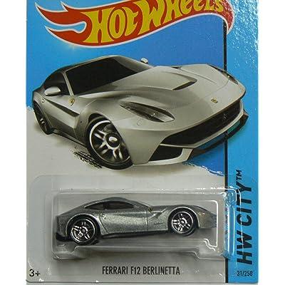 Hot Wheels HW City Ferrari F12 Berlinetta - Silver: Toys & Games