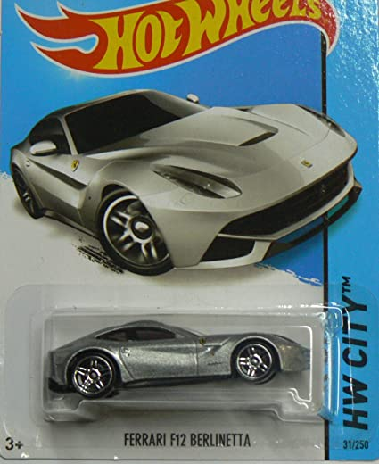 Hot Wheels HW City Ferrari F12 Berlinetta - Silver