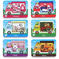 6pcs Pack For Animal Crossing New Horizons ACNH Amiibo Sanrio Mini card, RV Villager Furniture Compatible with Switch…