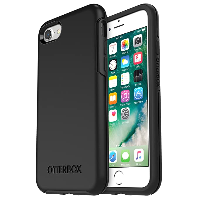 low cost 4adad 834f6 OtterBox SYMMETRY SERIES Case for iPhone 8 & iPhone 7 (NOT Plus) -  Frustration Free Packaging - BLACK