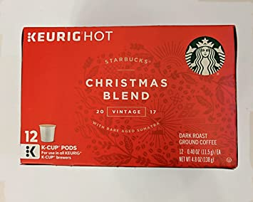 starbucks christmas blend k cups pods vintage 2017 12 count