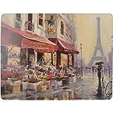 Creative Tops Paris scena Tovagliette all'americana in sughero, legno, multicolore, taglia L, 4 pezzi